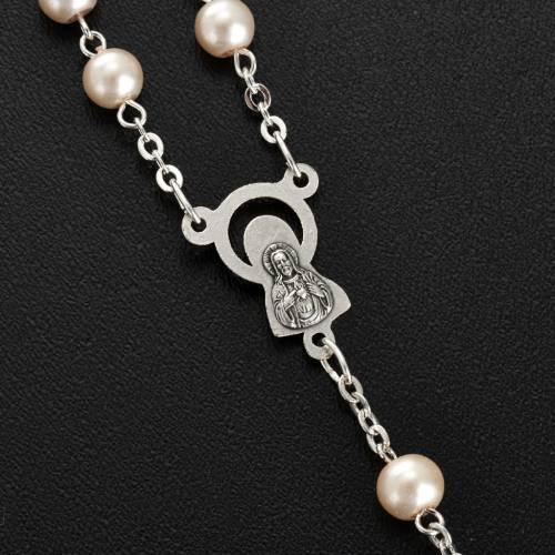 Chapelet avec perles en verre, rond s3