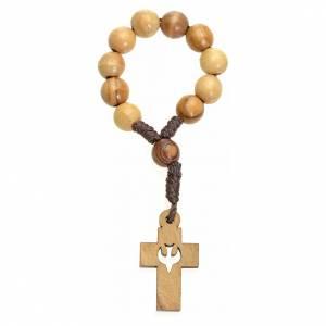 Dizainiers: Chapelet dizainier Terre Sainte olivier croix colombe