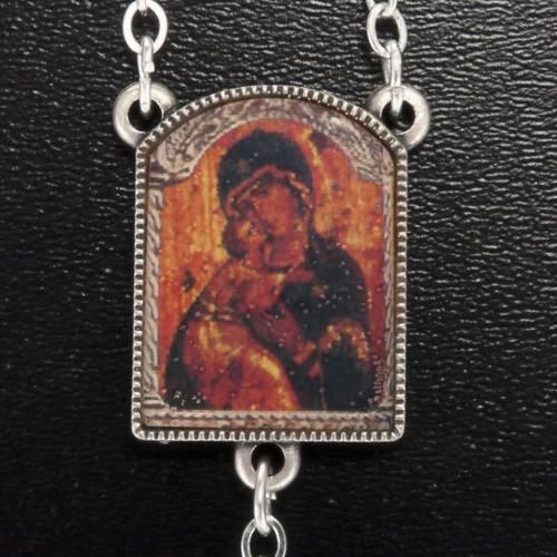 Chapelet Ghirelli grains coupés icône Notre-Dame de Vladimir s3