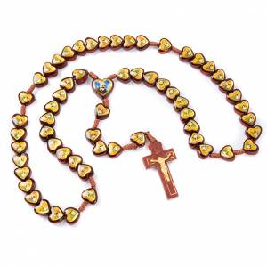Chapelet images,coeur Jésus et Marie s2