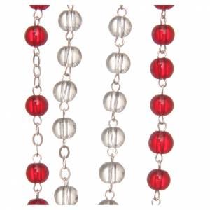 Rosaires de dévotion: STOCK Chapelet Jubilé Miséricorde blanc rouge 6 mm