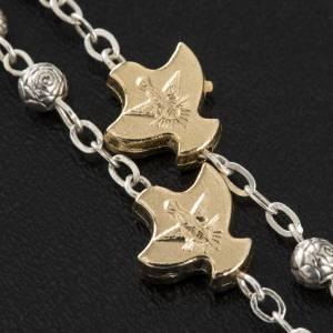 Chapelet, métal,Saint Esprit, roses, colombes s2