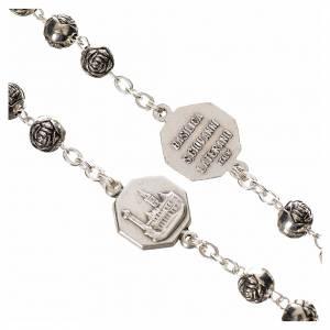Chapelets en métal: Chapelet Pape Jean Paul II métal petites roses