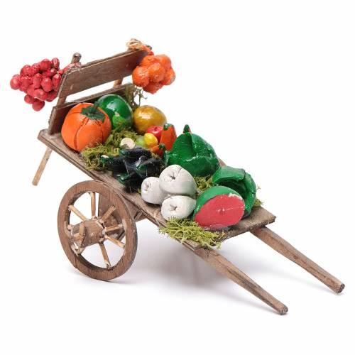 Char fruits et légumes crèche napolitaine 8x12x7cm s2
