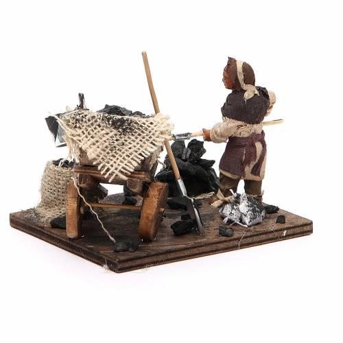 Charbonnier charrette charbon 10 cm crèche Naples s3