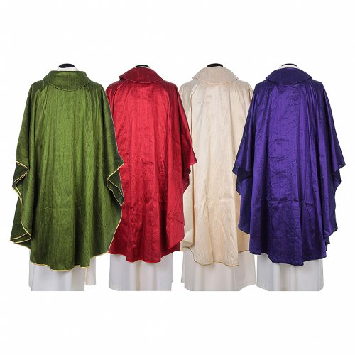 Chasuble 100% pure soie shantung s2