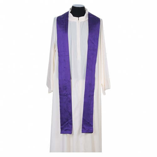 Chasuble 100% pure soie shantung s10