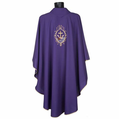 Chasuble and stole, cross and hands s13
