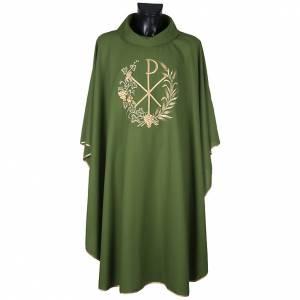 Chasuble et étole liturgiques, décor  Chi-Rho s7
