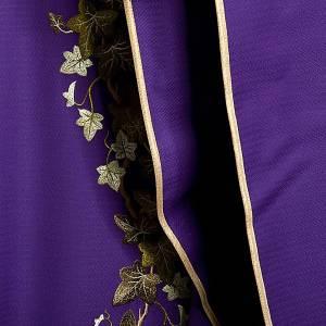 Chasuble et étole  violet avec lierre s8