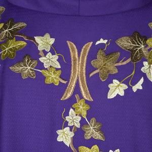 Chasuble et étole  violet avec lierre s2