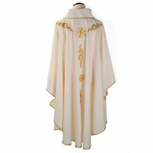 Chasuble liturgique broderie dorée s2