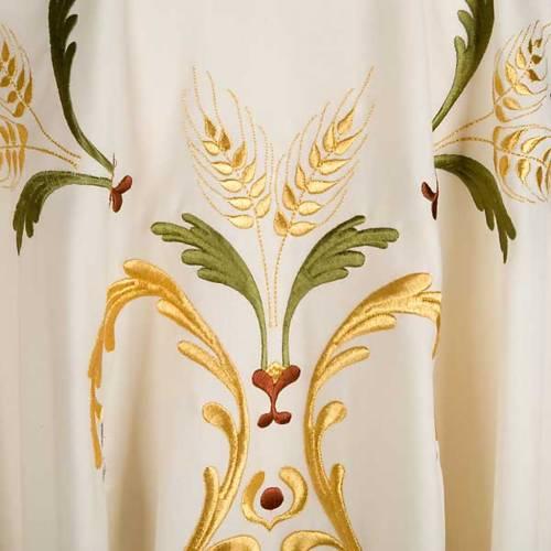 Chasuble liturgique laine épis raisins feuilles s3