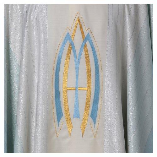 Chasuble liturgique mariale 100% laine Tasmania s4