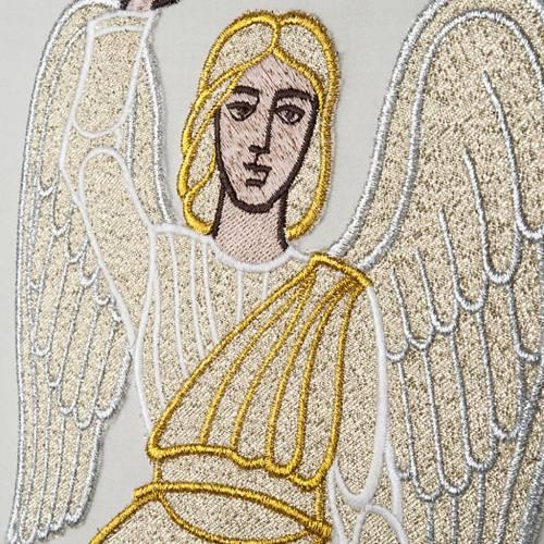 Chasuble Mariale et étole  avec ange et croix s4