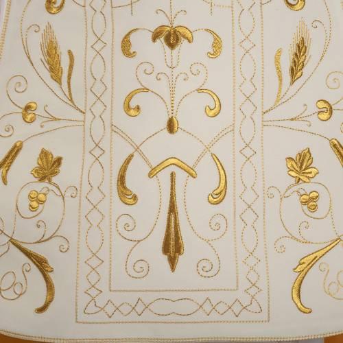 Chasuble romaine broderies dorées s3