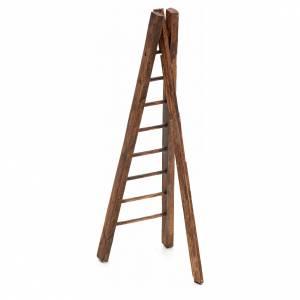 Échelle trois pieds en bois crèche h 15 cm s2