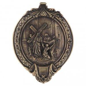 Chemin de Croix pâte à bois en bain de bronze s5