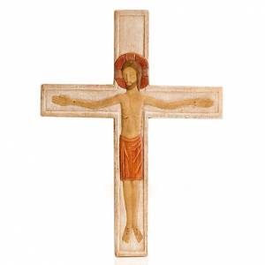 Wooden crucifixes: Christ on the cross white painted