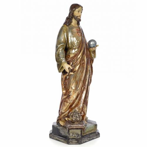 Christ the King Sovereign priest, 80cm in wood paste, polychroma s4