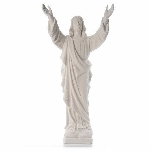 Christ the Redeemer, reconstituted Carrara Marble statue s1