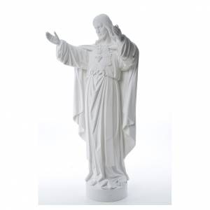 Reconstituted marble religious statues: Christ the Redeemer statue in reconstituted Carrara Marble