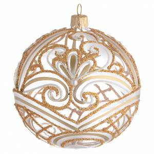 Christmas balls: Christmas Bauble transparent and gold 10cm