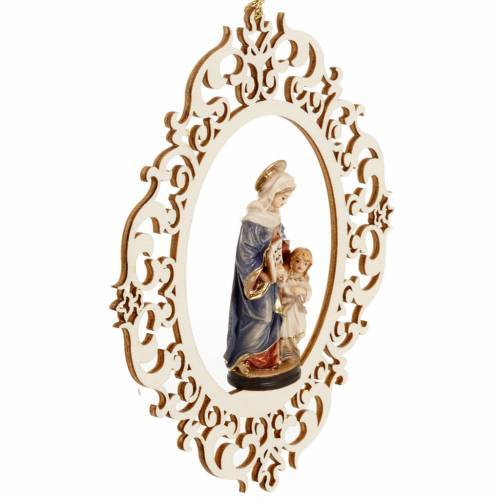 Christmas decor Saint Anne and young Mary wood s3