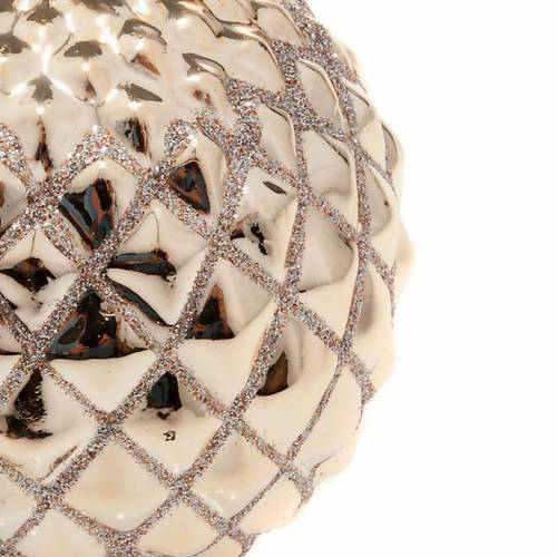 Christmas decoration candle sphere diamonds gold s2