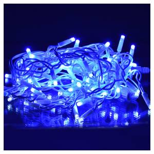 Christmas lights: Christmas lights, LED curtain, 60 LED, blue, for outdoor use