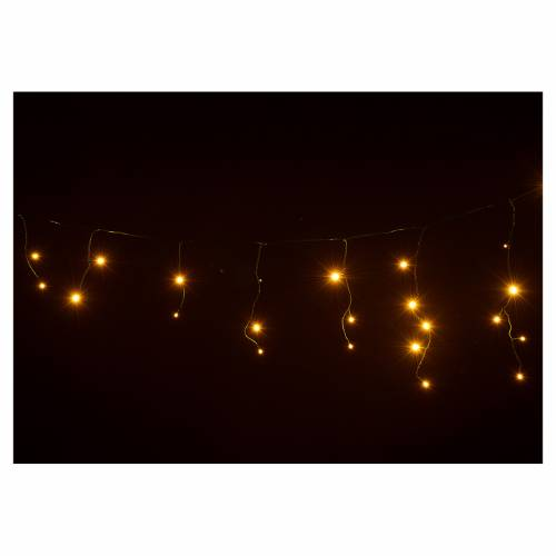 Christmas lights, LED curtain, 60 LED, warm white, programmable, s4
