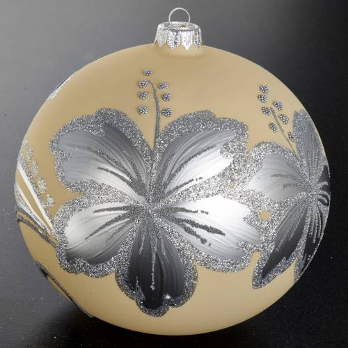 Christmas tree decoration, bauble in blown glass 15cm s2