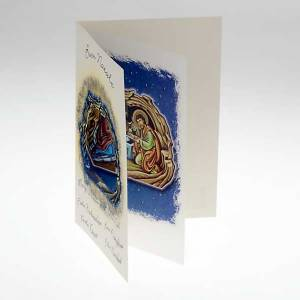 Greeting cards: Christmas wishes card with scroll