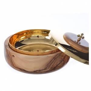 Calices Ciboires Patènes bois d'olivier: Ciboire bas olivier Terre Sainte