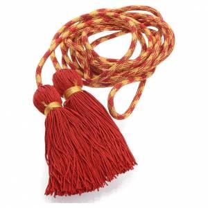 Cingolo sacerdotale color rosso oro s1