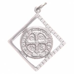 Ciondolo argento 800 Croce San Benedetto 1,6x1,6 cm s1