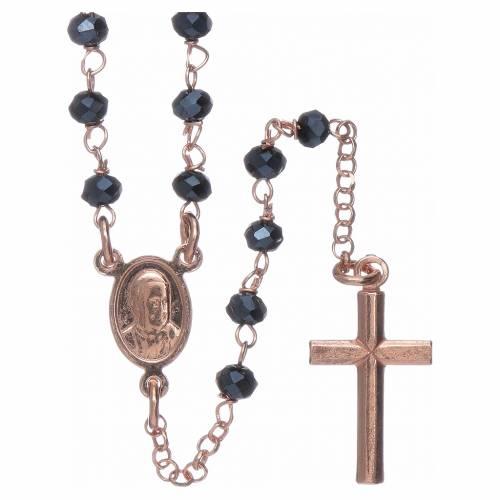 Classico rosario AMEN argento 925 rosé e cristalli s2