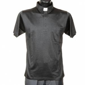Clergy polo shirt dark grey lisle thread s1