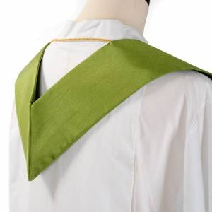 Clergy stole in shantung, cross with rays s6