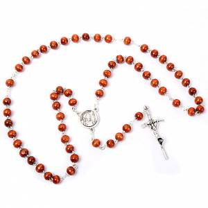 Coconnut-effect rosary with round beads s3