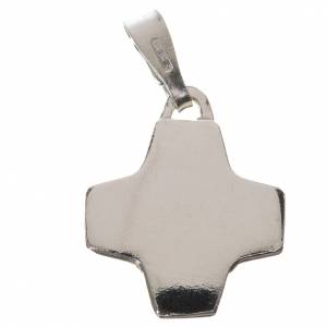 Colgantes, cruces y broches: Colgante con cruz en plata 800