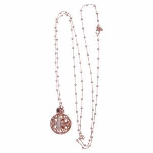 Collana AMEN chiama angeli argento 925 rosè e zirconi s3