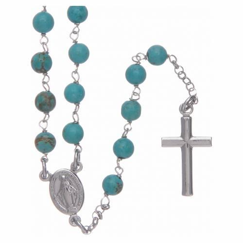Collana rosario Amen Argento 925 turchese s1