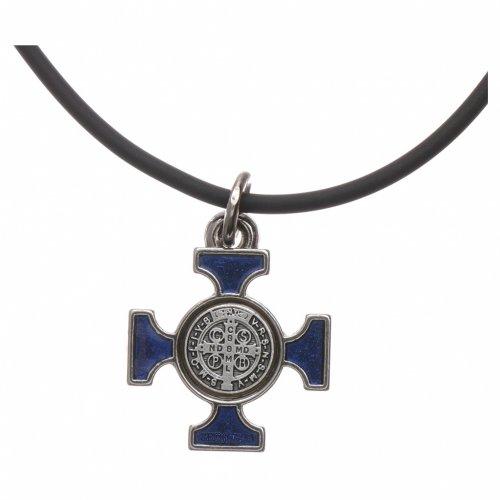 Collar cruz San Benito celta azul 2 x 2 s4