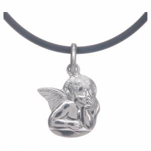 Collier avec Ange de Raffaello en argent 925 s1