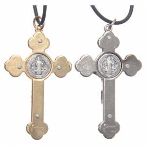 Collier croix style gothique Saint Benoit 6x3 s4