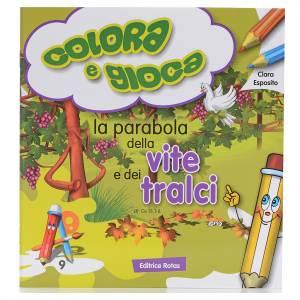 Libri per bambini e ragazzi: Colora la parabola della vite e dei tralci