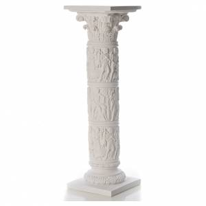 Reconstituted marble religious statues: Column for statues, in reconstituted Carrara marble 31,5in