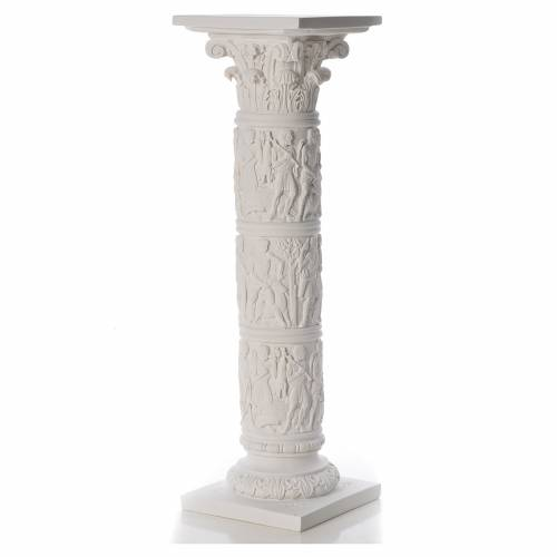 Column for statues, in reconstituted Carrara marble 31,5in s1