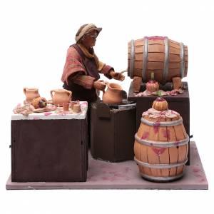 Belén napolitano: Comerciante de vino con barriles 24 cm pesebre Nápoles